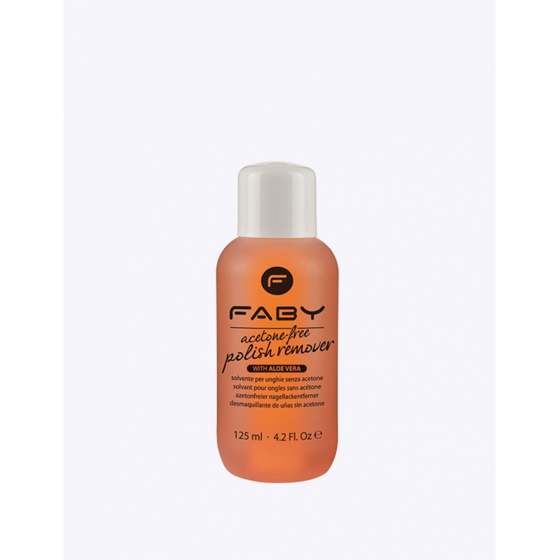 FABY Acetone free polish remover with aloe vera 125ml