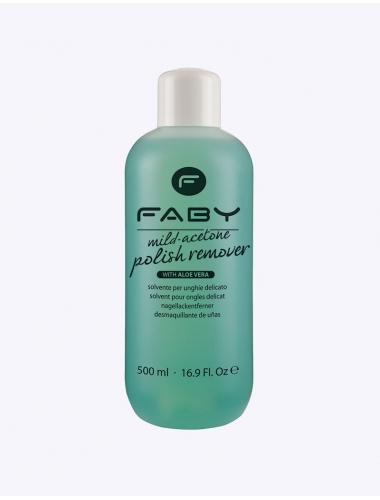 FABY Mild acetone polish remover with aloe vera 500ml